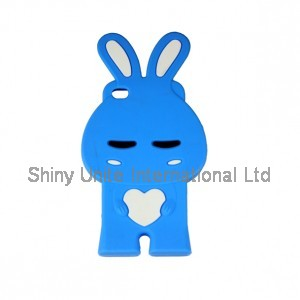 3D Bunny shaped silicone mobile phone case