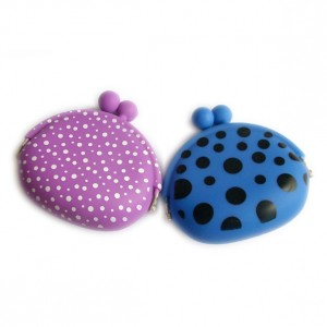 Polka Dot Silicone Kiss Knot Coin Wallet